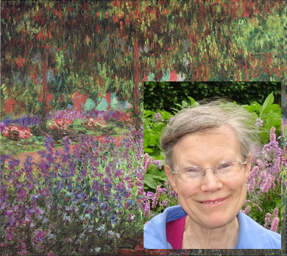 Monet Giverny Gardens overlaid with Prof Willsdon